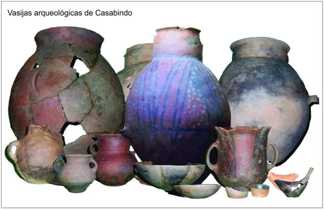 Diferentes tipos de vasijas de Pueblo Viejo de Tucute (gentileza Martín Basso).