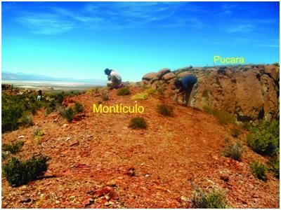 Montículo artificial ubicado en la parte más     elevada de la Loma Alta.