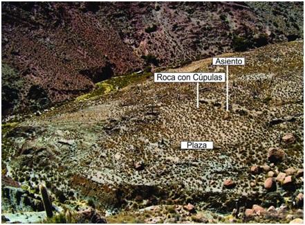 Vista de la plaza de la Loma Baja.