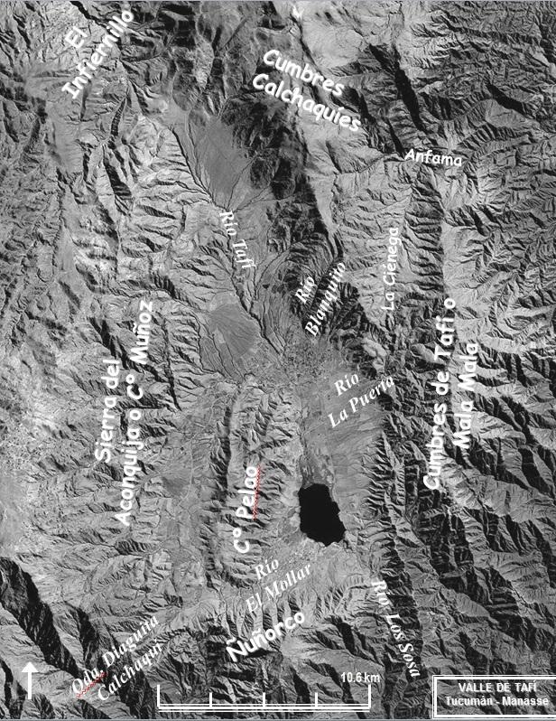 Imagen del Valle de     Tafí y alrededores.